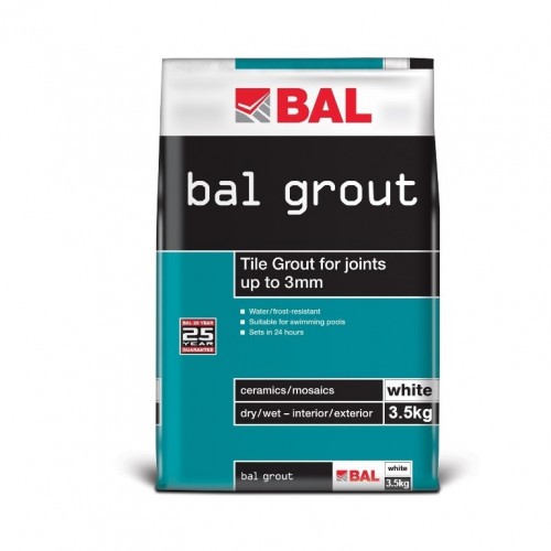 BAL Wall Grout - White 3.5KG