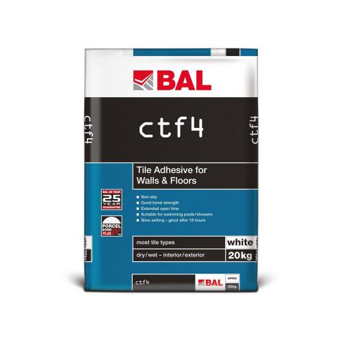 BAL CTF4 Tile Adhesive For Walls & Floors 20kg