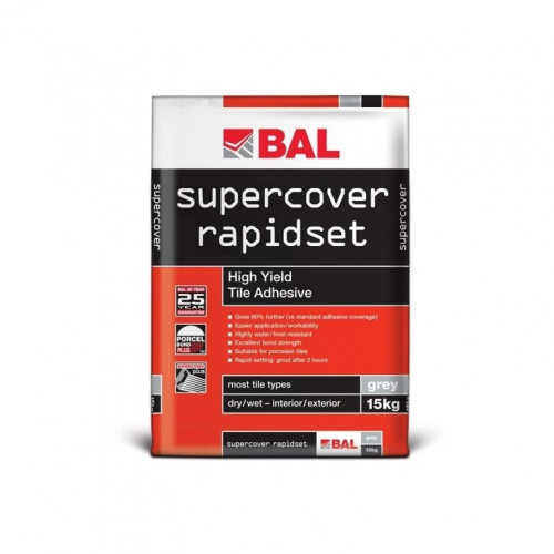 BAL Supercover Rapidset High Yield Tile Adhesive 15kg
