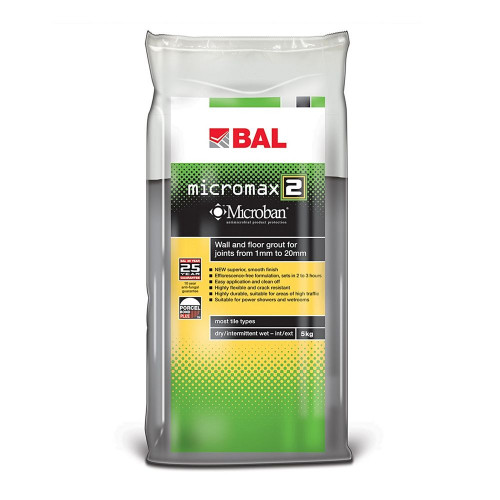 BAL Micromax2 Floor & Wall Grout - White 5KG