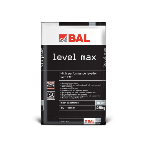 BAL Level Max All-In-One Leveller - Grey 25kg