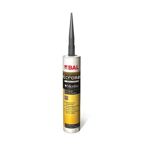 BAL Micromax Anti-Mould Silicone Sealant - White 310ML