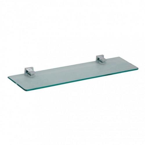 Astril Chrome Glass Vanity Shelf