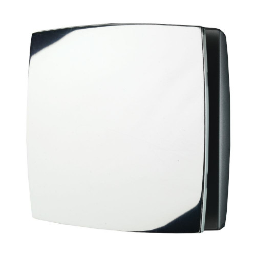 Breeze Chrome Wall Mounted Bathroom Fan with Timer