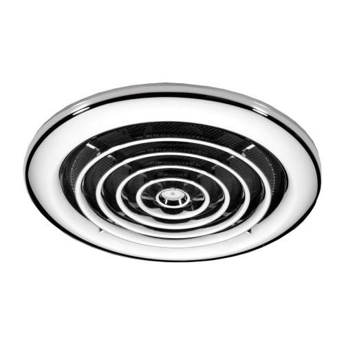 Cyclone Chrome Non Illuminate High Powered Inline Fan
