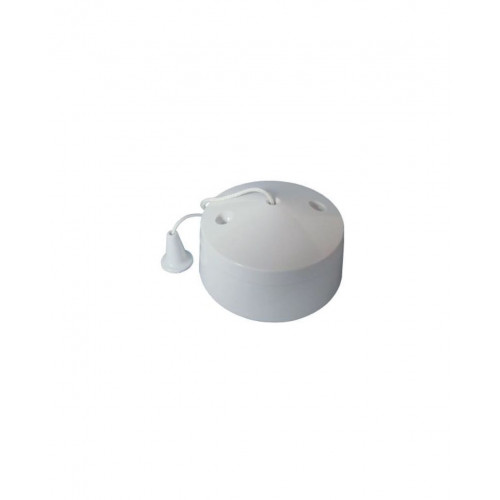 6A Ceiling Pull Cord Switch - White