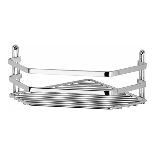 Satina Chrome Single Corner Caddy