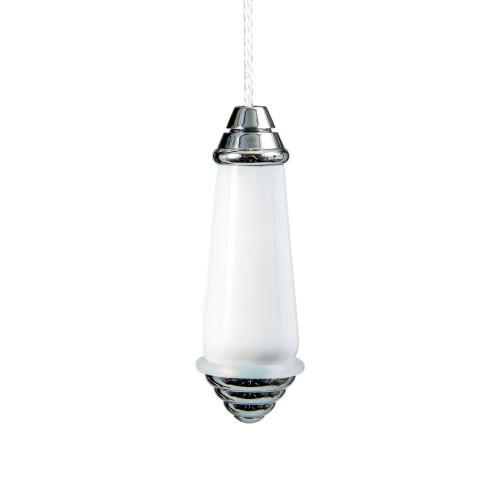 Miller Light Pull Chrome/White