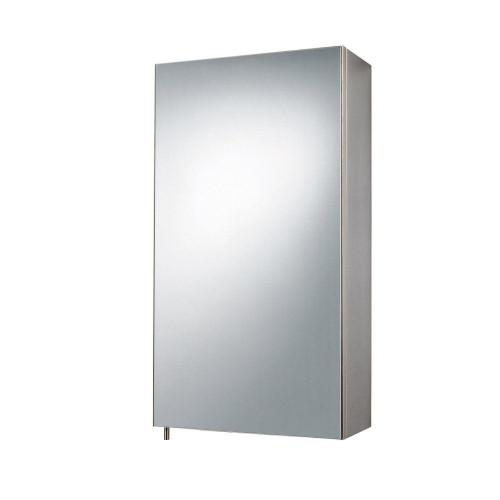 Stainless Steel Single Door Mirror Cabinet 300mm x 550mm x 140mm