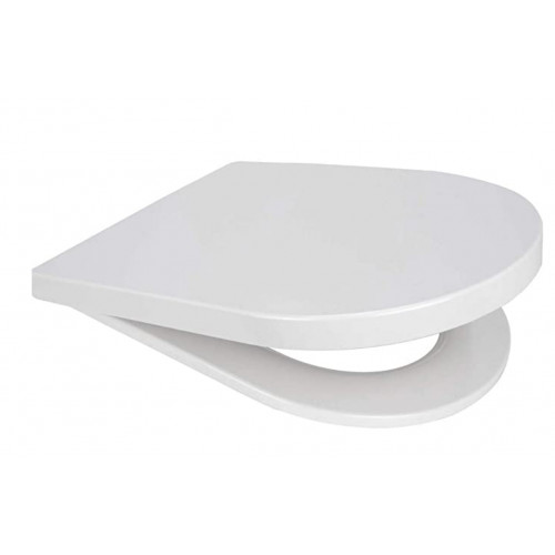 Rainbow Middle D STYLE Anti-Bacterial Soft Close Quick Release Toilet Seat - White