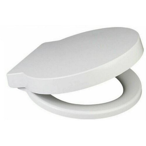 ROUND Anti-Bacterial Soft Close Quick Release Toilet Seat - White