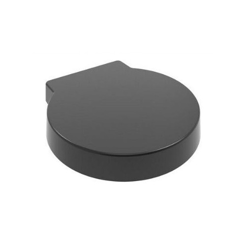 ROUND Anti-Bacterial Soft Close Quick Release Toilet Seat - Black