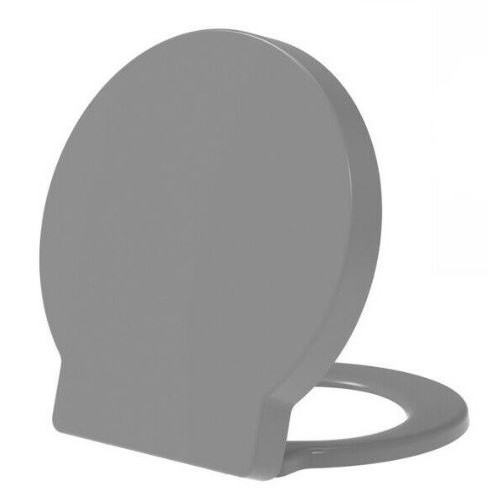 ROUND Anti-Bacterial Soft Close Quick Release Toilet Seat - Grey