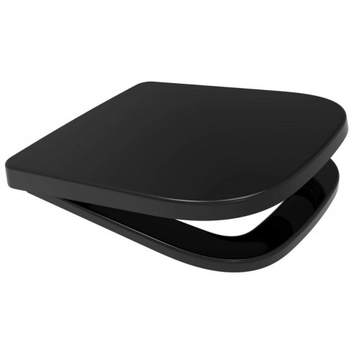 V20 ONE Anti-Bacterial Soft Close Quick Release Toilet Seat - Black