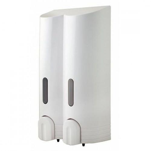Tall Double Soap Dispenser - White