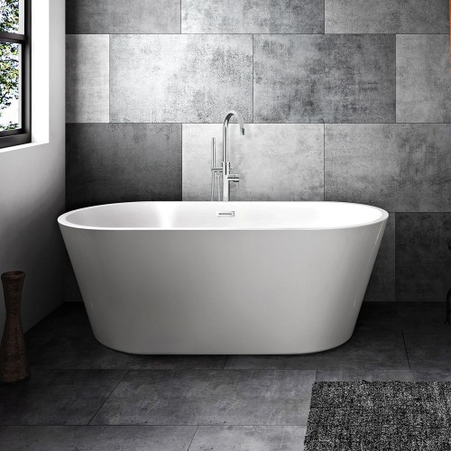 Adelaide 1700mm x 750mm Double Ended Freestanding Bath & Waste