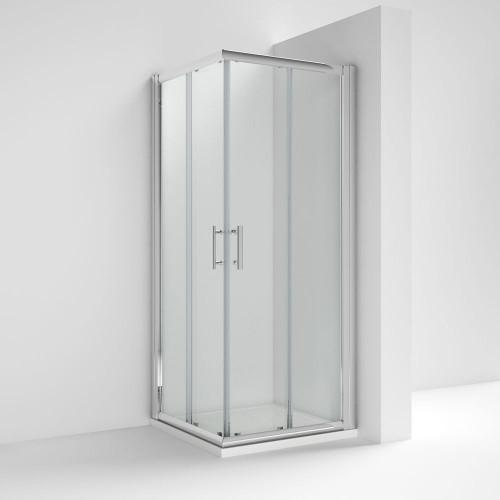Pacific Chrome 900mm Corner Entry Shower Enclosure - Enclosure Only