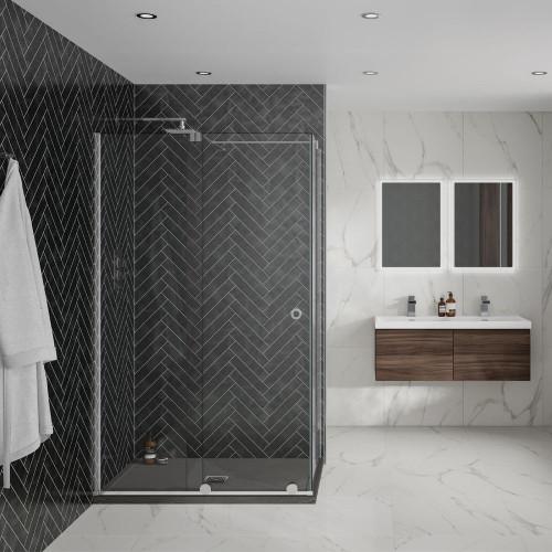 Aquadart Rolla 8 900mm Side Panel - Chrome