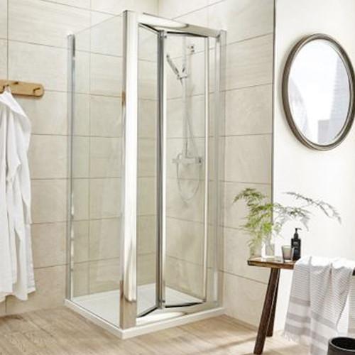 Pacific Chrome 900mm Bi-Fold Shower Door