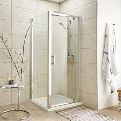 Pacific Chrome 900mm Shower Side Panel