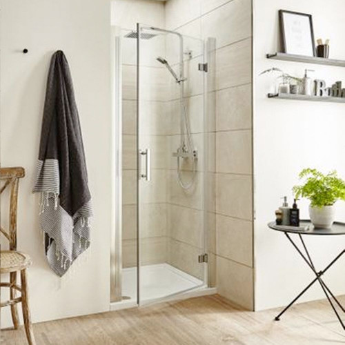 Pacific Chrome 900mm Hinged Shower Door