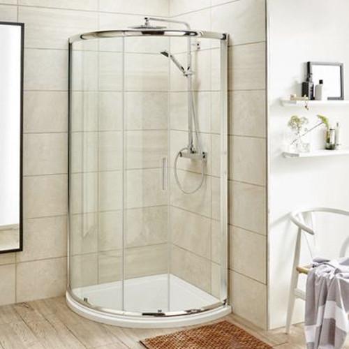 Pacific Chrome 860mm Single Entry Quadrant Shower Enclosure 6mm - Enclosure Only