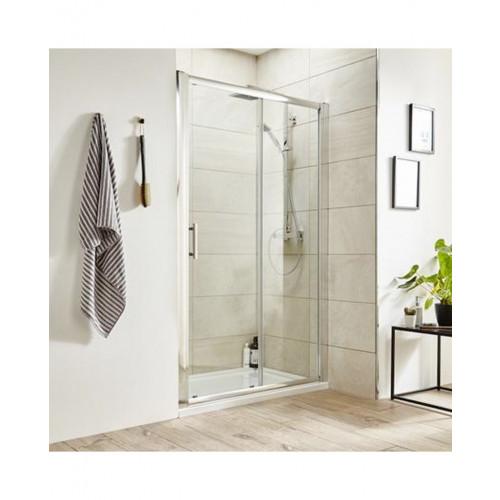 Pacific Chrome 1000mm Single Sliding Shower Door