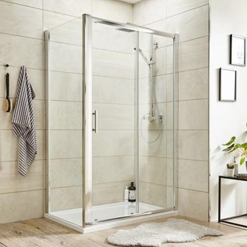 Pacific Chrome 1700mm Single Sliding Shower Door