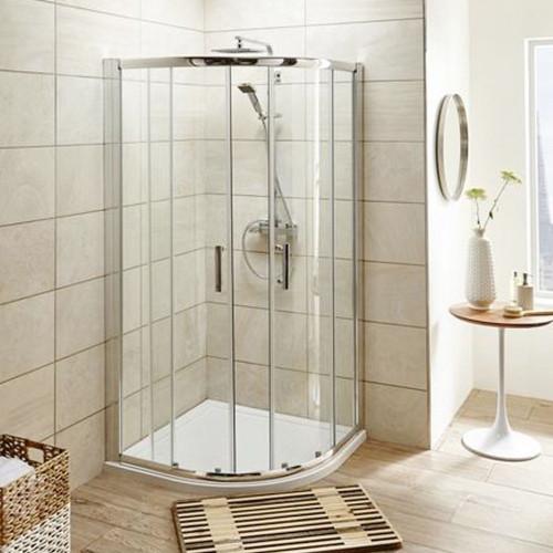 Pacific Chrome 1000mm Quadrant Shower Enclosure - Enclosure Only