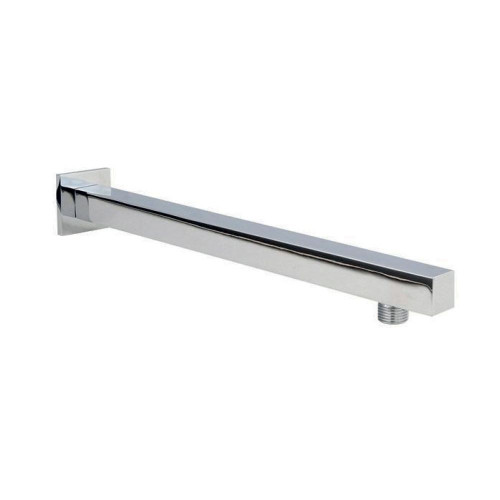 Square Chrome Wall Mounted Shower Arm 321mm