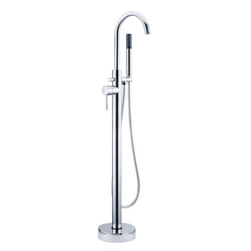 Aspen Chrome Floor Mounted Bath Shower Mixer & Shower Kit