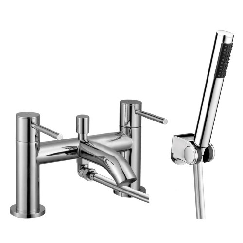 Avion Chrome Bath Shower Mixer & Shower Kit