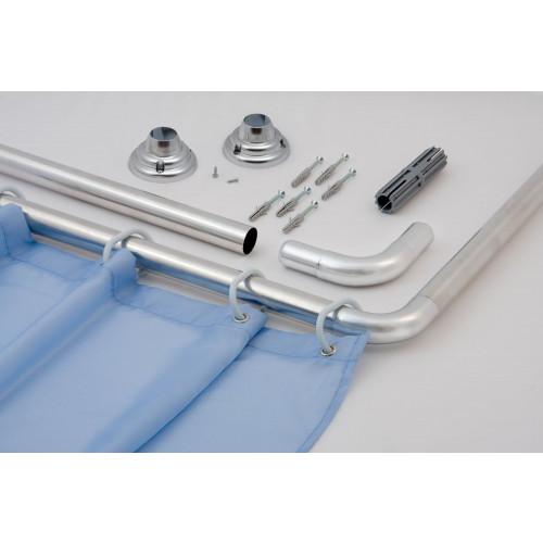 L-Shape Curtain Rail - Chrome