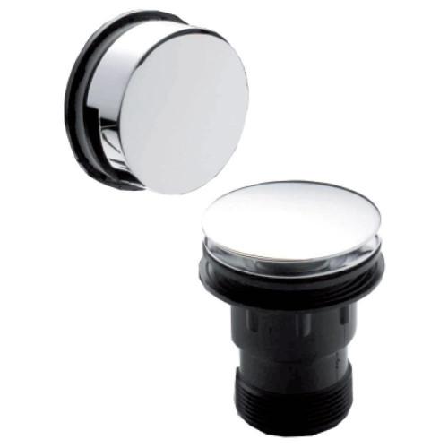 Easyclean Chrome Push Button Bath Waste & Overflow