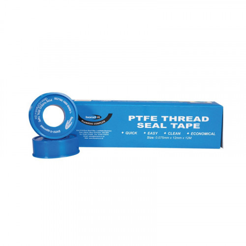 Bond-It Threadseal PTFE Tape 12mm x 12m (Pack Of 10)