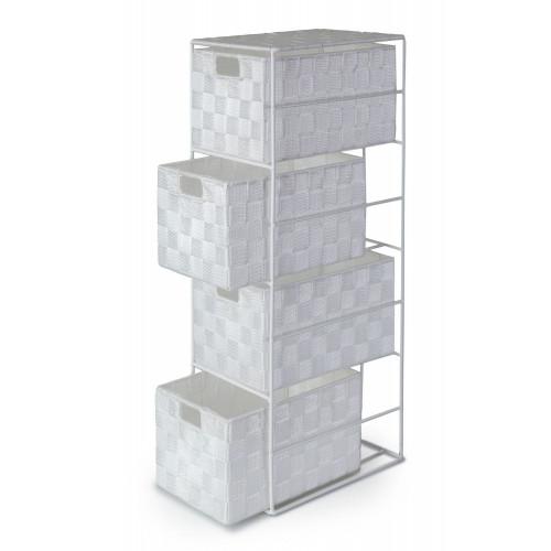 Madrid Cabinet 4 Drawer - White