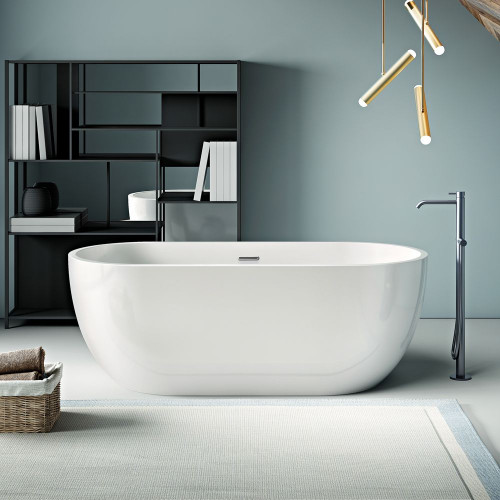 Bologna 1800mm x 750mm Double Ended Freestanding Bath & Waste