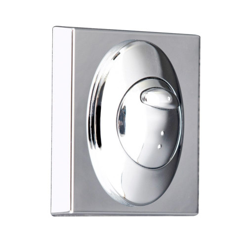 Square Chrome Push Button Plate