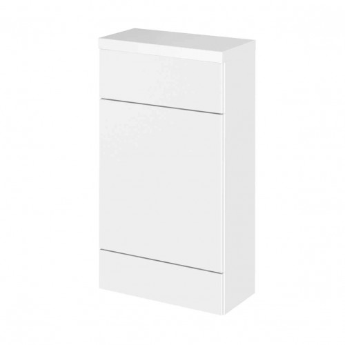 Hudson Reed Fusion White Gloss 500mm WC Unit & Top (255mm Deep)