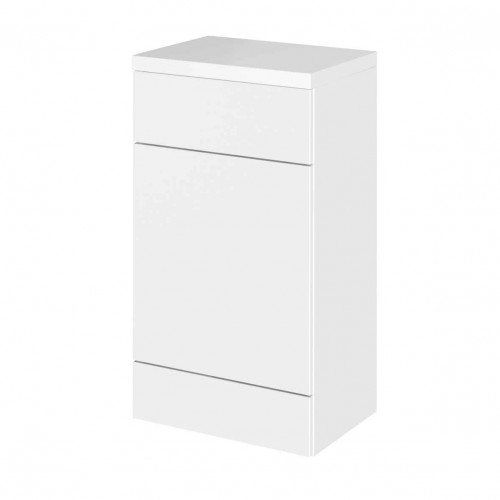 Hudson Reed Fusion White Gloss 500mm WC Unit & Top (355mm Deep)