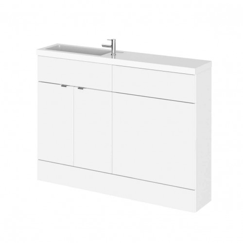 Hudson Reed Fusion White Gloss 1200mm Slimline Combination Furniture Pack