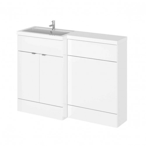 Hudson Reed Fusion White Gloss 1200mm Combination Furniture Pack - Left Hand