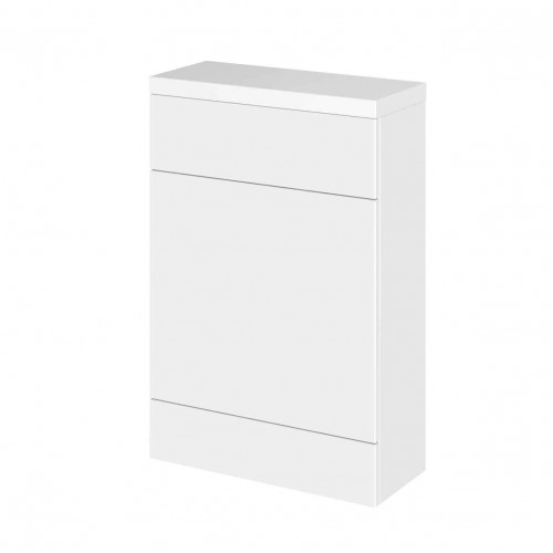 Hudson Reed Fusion White Gloss 600mm WC Unit & Top (255mm Deep)