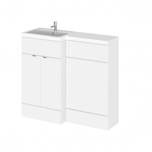 Hudson Reed Fusion White Gloss 1000mm Combination Furniture Pack - Left Hand