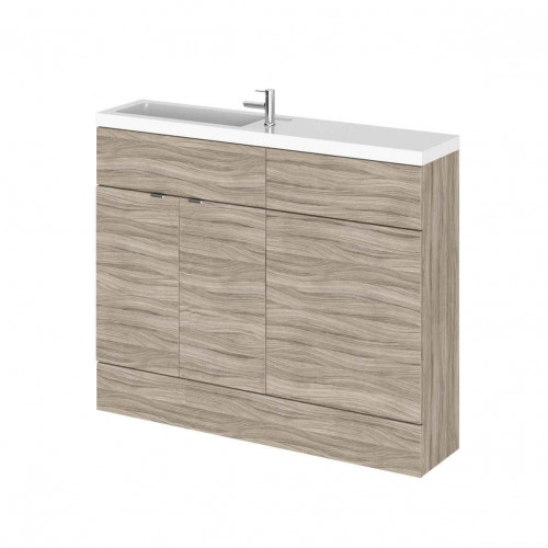 Hudson Reed Fusion Driftwood 1100mm Slimline Combination Furniture Pack