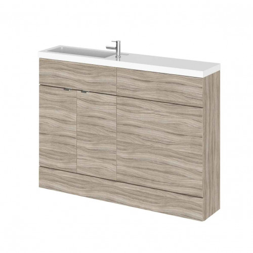 Hudson Reed Fusion Driftwood 1200mm Slimline Combination Furniture Pack