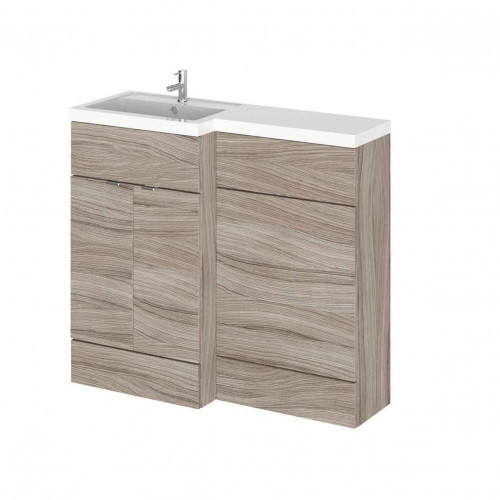 Hudson Reed Fusion Driftwood 1000mm Combination Furniture Pack - Left Hand
