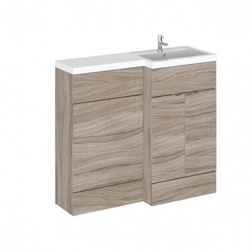 Hudson Reed Fusion Driftwood 1000mm Combination Furniture Pack - Right Hand