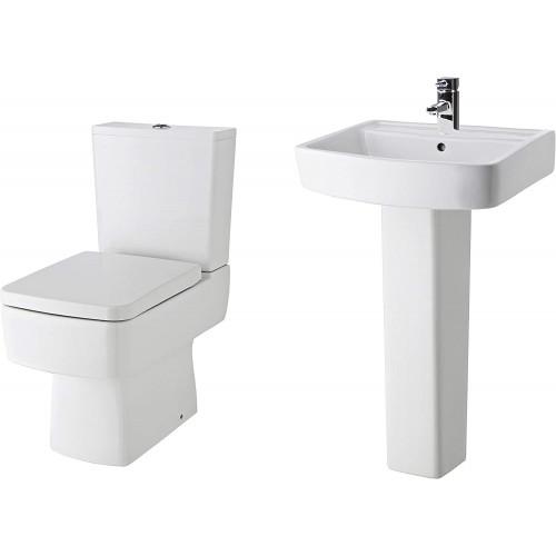 Bliss Toilet & Basin Bathroom Suite - 1 Tap Hole