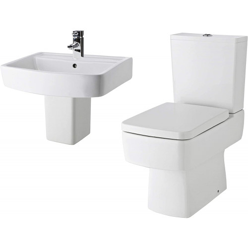 Bliss 4 Piece Toilet & Wall Hung Basin Bathroom Suite - 1 Tap Hole
